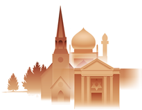 Illustration representing Worship & Religion section of virtual community.